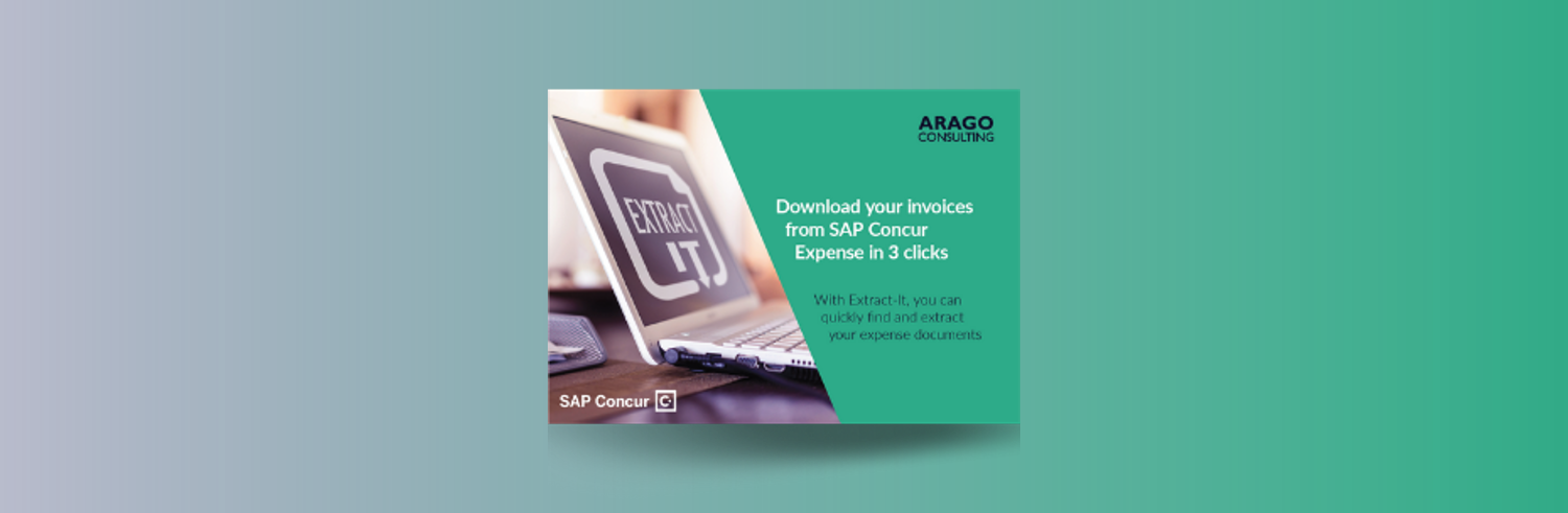 Extract-It for SAP Concur: Download your invoices from SAP Concur Expense in 3 clicks